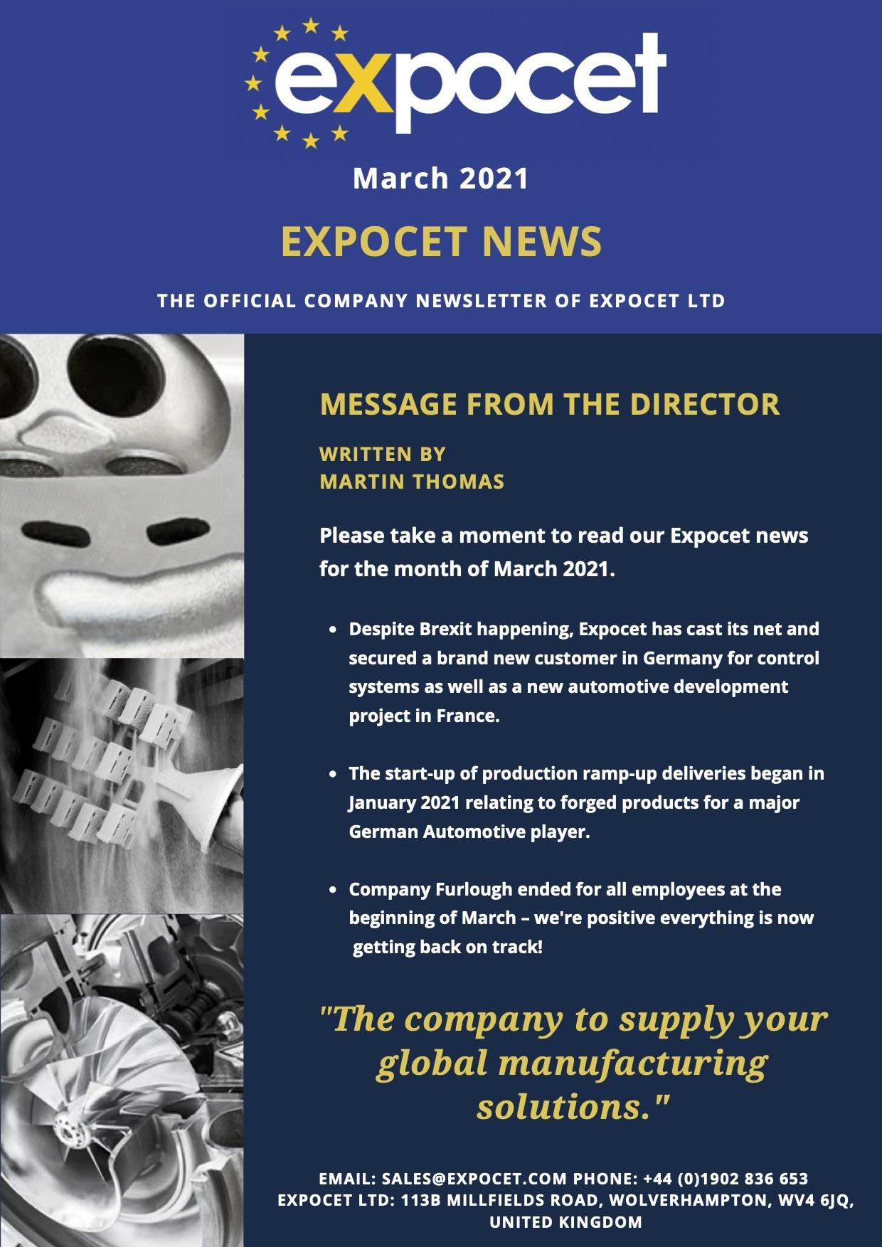 Expocet Newsletter March 2021