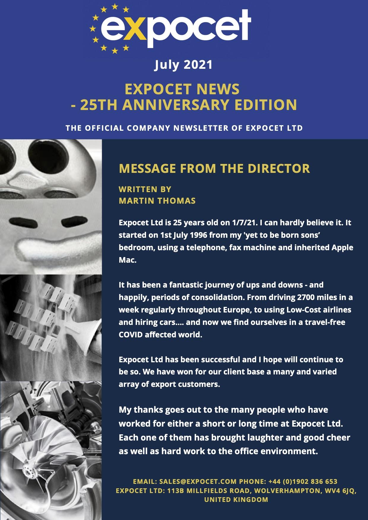 25th Anniversary Newsletter
